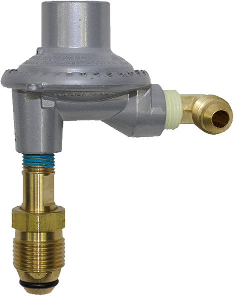 Low pressure regulator and fittings for boats only
